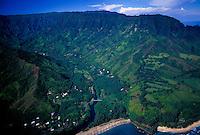 Aerial of North Coast near Haena