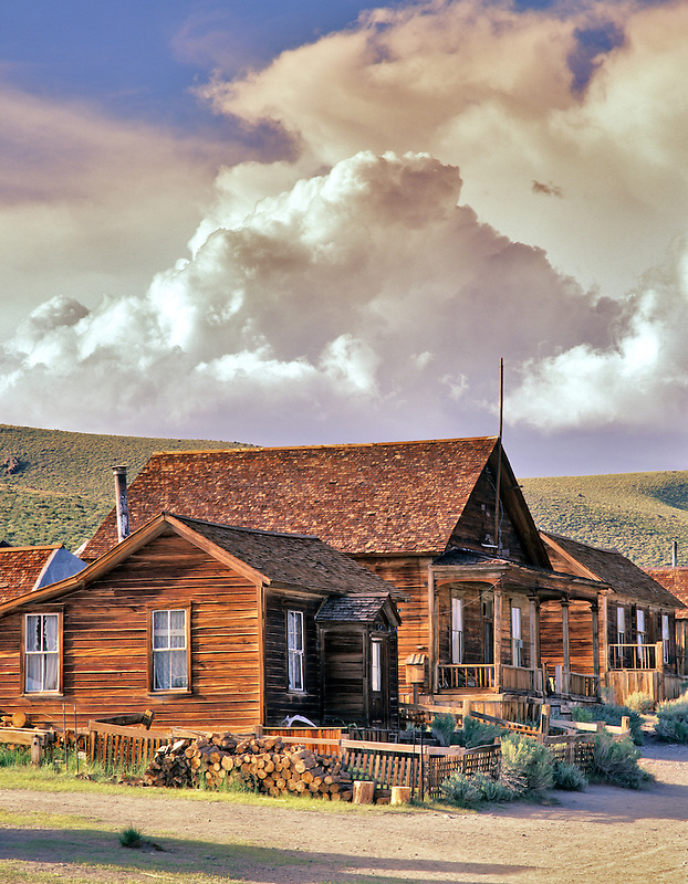 House in ghost town of Bodie, California.