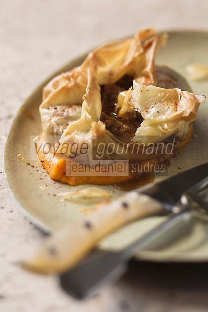 Croustillant d'agneau du Quercy à la mousseline ed carottes - recette de Christian Constant  EXCLU: EDITION LIVRE CUISINE DU SUD-OUEST