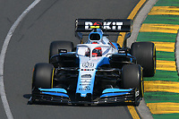 March 16, 2019: Robert Kubica (POL) #88 from the Williams Racing team rounds turn 2 during practice session three at the 2019 Australian Formula One Grand Prix at Albert Park, Melbourne, Australia. Photo Sydney Low