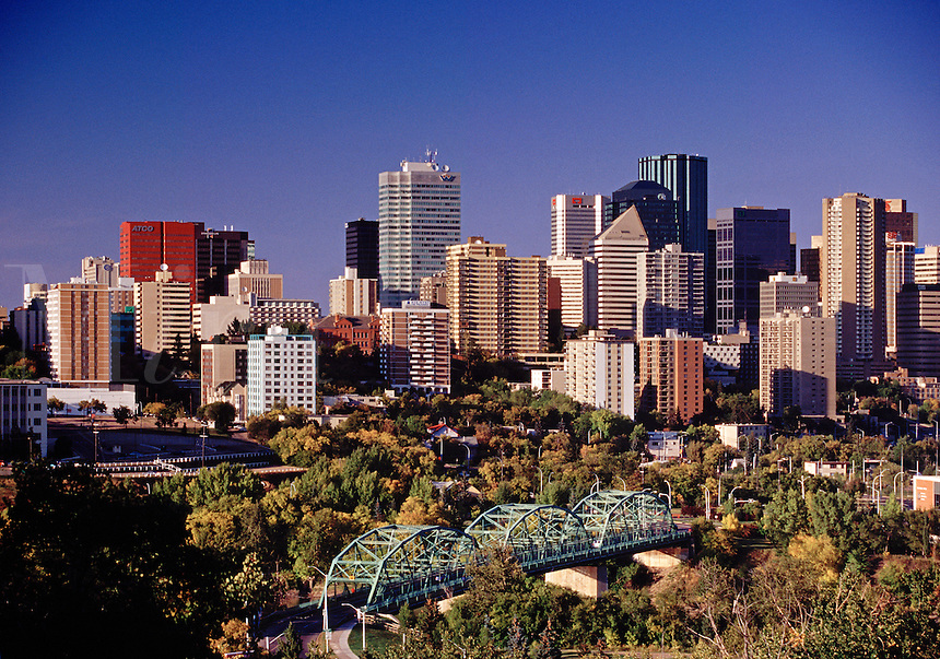 City skyline Edmonton Alberta Canada.