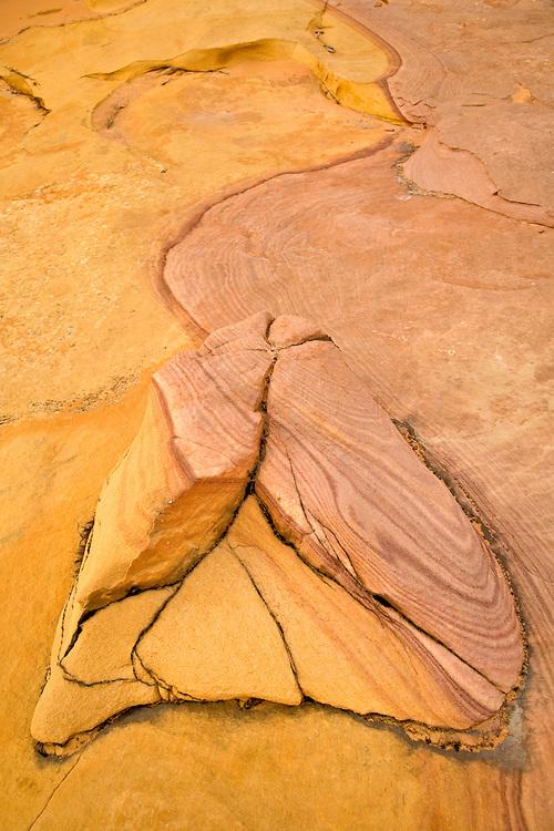 Bizarre design in sandstone rock formation