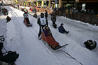 March 3, 2007   Richard Hum during the Iditarod ceremonial start day in Anchorage
