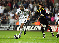 Pictured: Darren Pratley of Swansea City in action <br /> Re: Coca Cola Championship, Swansea City Football Club v Queens Park Rangers at the Liberty Stadium, Swansea, south Wales 21st October 2008.