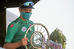 Jakob Fuglsang (DEN) Astana Pro Team wins solo the 114th edition of Il Lombardia 2020, running 231km from Bergamo to Como, Italy. 15th August 2020.<br /> Picture: LaPresse/Marco Alpozzi | Cyclefile<br /> <br /> All photos usage must carry mandatory copyright credit (© Cyclefile | LaPresse/Marco Alpozzi)