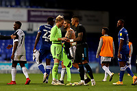 16th September 2020; Portman Road, Ipswich, Suffolk, England, English Football League Cup, Carabao Cup, Ipswich Town versus Fulham; Andre Dozzell of Ipswich Town and Alphonse Areola of Fulham swap shirts