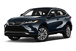 Stock pictures of low aggressive front three quarter view of 2021 Toyota Venza Limited 5 Door SUV Low Aggressive