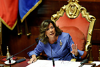 President of the Senate Elisabetta Alberti Casellati<br /> Rome September 10th 2019. Senate. Discussion and Trust vote at the new Government. <br /> Foto  Samantha Zucchi Insidefoto