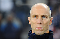 USA manager Bob Bradley . USA defeated Spain 2-0 during the semi-finals of the FIFA Confederations Cup at Free State Stadium in Manguang/Bloemfontein, South Africa on June 24, 2009..
