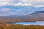 A view of Mount Washington and the Presidential Range in the White Mountain National Forest, New Hampshire, USA