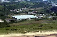 Aerial view of Amazon Fulfillment Centre near Swansea