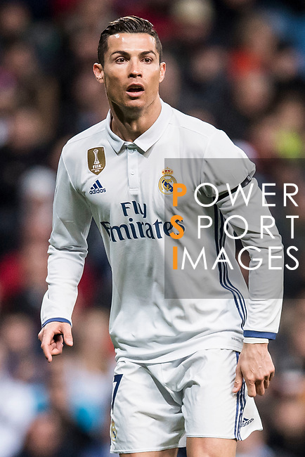 Cristiano Ronaldo of Real Madrid looks on during their La Liga match between Real Madrid and Real Betis at the Santiago Bernabeu Stadium on 12 March 2017 in Madrid, Spain. Photo by Diego Gonzalez Souto / Power Sport Images