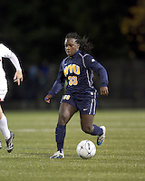 """West Virginia forward Bry McCarthy (33). Boston College defeated West Virginia, 4-0, in NCAA tournament """"Sweet 16"""" match at Newton Soccer Field, Newton, MA."""