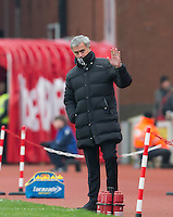 Manchester United Manager Jose Mourinho during the Premier League match between Stoke City and Man Utd at the Britannia Stadium, Stoke-on-Trent, England on 21 January 2017. Photo by Andy Rowland.