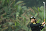 Min-Young Lee of South Korea tees off at 13th hole during Round 3 of the World Ladies Championship 2016 on 12 March 2016 at Mission Hills Olazabal Golf Course in Dongguan, China. Photo by Lucas Schifres / Power Sport Images