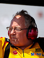 Aug 9, 2020; Clermont, Indiana, USA; NHRA team owner Connie Kalitta during the Indy Nationals at Lucas Oil Raceway. Mandatory Credit: Mark J. Rebilas-USA TODAY Sports