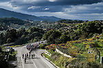 The peloton in action during Stage 15 of the Vuelta Espana 2020, running 230.8km from Mos to Puebla de Sanabria, Spain. 5th November 2020. <br /> Picture: Unipublic/Charly Lopez | Cyclefile<br /> <br /> All photos usage must carry mandatory copyright credit (© Cyclefile | Unipublic/Charly Lopez)