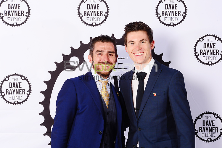 Picture by Simon Wilkinson/SWpix.com - 04/11/2017 Cycling Dave Rayner Fund Dinner 2017 New Dock Yard Royal Armouries, Leeds - Russ Downing and Ben Swift