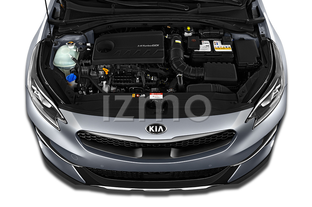 Car Stock 2020 KIA XCeed Sense 5 Door SUV Engine  high angle detail view