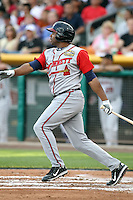 Stefan Gartrell #32 of the Gwinnett Braves plays for the International League All-Stars in the annual Triple-A All-Star Game against the Pacific Coast League All-Stars at Spring Mobile Ballpark on July 13, 2011  in Salt Lake City, Utah. The International League won the game, 3-0. Bill Mitchell/Four Seam Images.
