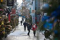Amérique/Amérique du Nord/Canada/Québec/ Québec: Rue Petit-Champlain dans le Quartier Petit-Champlain,  Vieux Québec