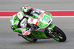 Enea Bastianini (33) in action during the Red Bull Grand Prix of the Americas practice sessions at Circuit of the Americas racetrack in Austin,Texas.