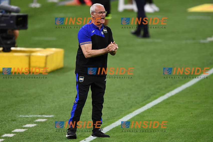 Claudio Ranieri coach of UC Sampdoria reacts during the Serie A football match between FC Internazionale and UC Sampdoria at Stadio San Siro in Milano ( Italy ), June 21th, 2020. Play resumes behind closed doors following the outbreak of the coronavirus disease. <br /> Photo Image/Insidefoto