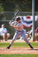 Central Michigan Chippewas first baseman Evan Kratt (37) at bat during a game against the Boston College Eagles on March 3, 2017 at North Charlotte Regional Park in Port Charlotte, Florida.  Boston College defeated Central Michigan 5-4.  (Mike Janes/Four Seam Images)