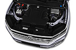 Car Stock 2019 Volkswagen Touareg Business-Atmosphere 5 Door SUV Engine  high angle detail view