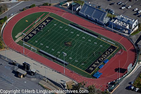 aerial photograph Turner Field, Ventura High School, Ventura, Ventura County, California