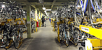 A typical bicycle park at a train station on the outskirts of Tokyo. Tokyo is the most populated metropolitan area with 35 million people.<br /> <br /> Richard Jones  /  Sinopix