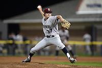 Mahoning Valley Scrappers pitcher Luke Eubank (37) delivers a pitch during a game against the Batavia Muckdogs on August 22, 2014 at Dwyer Stadium in Batavia, New York.  Mahoning Valley defeated Batavia 2-1.  (Mike Janes/Four Seam Images)