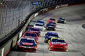 #20: Christopher Bell, Joe Gibbs Racing, Toyota Supra Rheem-HTPG Refrigeration Products, #08: Gray Gaulding, SS Green Light Racing, Chevrolet Camaro Panini