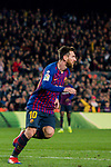 Lionel Andres Messi of FC Barcelona celebrates scoring the goal during the La Liga 2018-19 match between FC Barcelona and RC Celta de Vigo at Camp Nou on 22 December 2018 in Barcelona, Spain. Photo by Vicens Gimenez / Power Sport Images