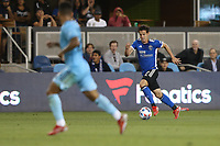 SAN JOSE, CA - AUGUST 17: Carlos Fierro #7 of the San Jose Earthquakes before a game between Minnesota United FC and San Jose Earthquakes at PayPal Park on August 17, 2021 in San Jose, California.