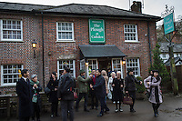 Chinese business people based in the UK visit  the The Plough at Cadsden, Buckinghamshire. SinoFortone Group bought the pub after it was visited by Chinese Premiere Ji Jinping last year, and aim to develop  a chain of English-style pubs China.<br /> <br /> Photo by Richard Jones