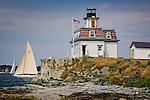 Rose Island Light on Narragansett Bay, Newport, RI, USA