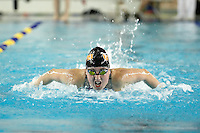 SAN ANTONIO, TX - FEBRUARY 20, 2009: The University of Texas of the Permian Basin Falcons compete during Day 2 of the Rocky Mountain Athletic Conference Swimming & Diving Championships held at the Josh Davis Natatorium. (Photo by Jeff Huehn)