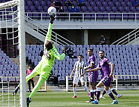 Alvaro Morata of Juventus shoots and scores during the  italian serie a soccer match,Fiorentina - Juventus at  theStadio Franchi in  Florence Italy ,