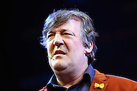 Saturday 24 May 2014, Hay on Wye UK<br /> Pictured: Stephen Fry.<br /> Re: The Telegraph Hay Festival, Hay on Wye, Powys, Wales UK.