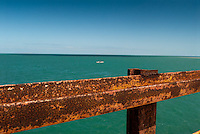 Siderailing of the Old Seven Mile Bridge, Marathon, Florida