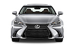Car photography straight front view of a 2016 Lexus GS 200t 4 Door Sedan Front View