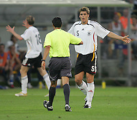 Sebastian Kehl, Benito Archundia.  Italy defeated Germany, 2-0, in overtime in their FIFA World Cup semifinal match at FIFA World Cup Stadium in Dortmund, Germany, July 4, 2006.