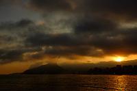 A general view of Ipanema beach at sun set