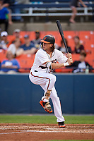 Baltimore Orioles Colby Rasmus (37), on rehab assignment with the Frederick Keys, at bat during the second game of a doubleheader against the Lynchburg Hillcats on June 12, 2018 at Nymeo Field at Harry Grove Stadium in Frederick, Maryland.  Frederick defeated Lynchburg 8-1.  (Mike Janes/Four Seam Images)