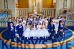 The pupils of Currow NS who received their First Holy Communion in the Church of the Immaculate Conception Currow on Saturday
