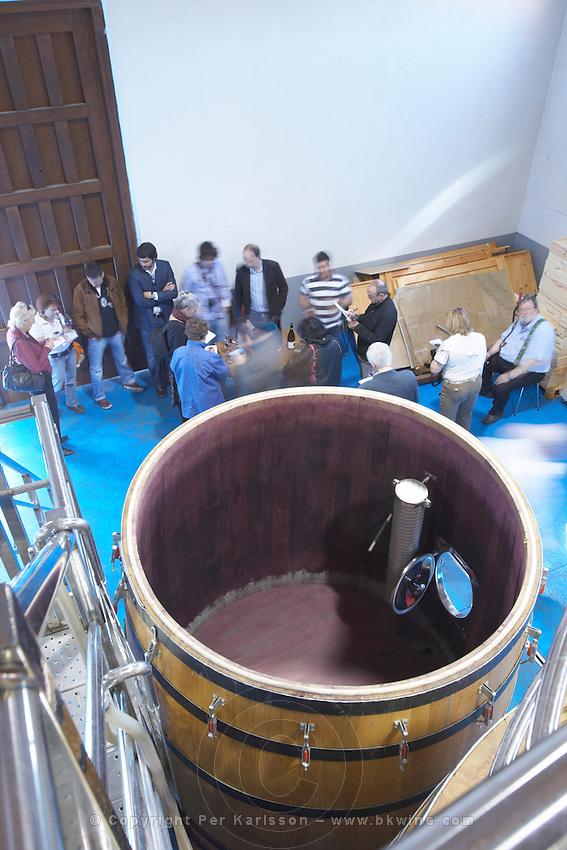 fermentation tank interior Bodegas Margon , DO Tierra de Leon , Pajares de los Oteros spain castile and leon