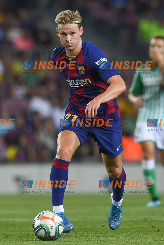 FOOTBALL: FC Barcelone vs Real Betis - La Liga-25/08/2019<br /> Frenkie De Jong (FCB)<br />  <br /> 25/08/2019 <br /> Barcelona - Real Betis  <br /> Calcio La Liga 2019/2020  <br /> Photo Paco Largo/Panoramic/insidefoto