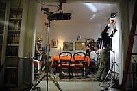 Casa COOP.Dietro le quinte.Backstage.2°serie.Lavoratori dello spettacolo durante la riprese di Casa Coop.Workers in the entertainment during the filming of House Coop.