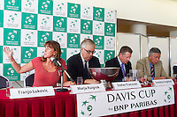 September 11, 2014, Netherlands, Amsterdam, Ziggo Dome, Davis Cup Netherlands-Croatia, Draw <br /> Photo: Tennisimages/Henk Koster